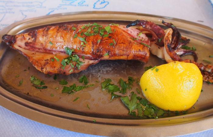 Pesce grigliato a Plimmiri