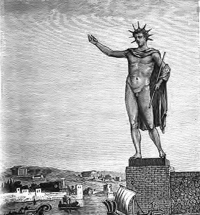 Colosso di Rodi una delle ricostruzioni